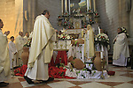 Israel, Lower Galilee, the feast of the Miracle of the Wine at the Franciscan Wedding Church in Kafr Cana