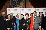 One Life To Live's Renee Elise Goldsberry poses with the cast Patrick Carroll, Estelle Parsons, Becky Ann Baker, Frances McDormand and Tate Donovan - Opening Night of Broadway's Good People on March 3, 2011 at the Samuel J. Friedman Theatre, New York City, New York with the after party was at B.B. Kings, NYC. (Photo by Sue Coflin/Max Photos)