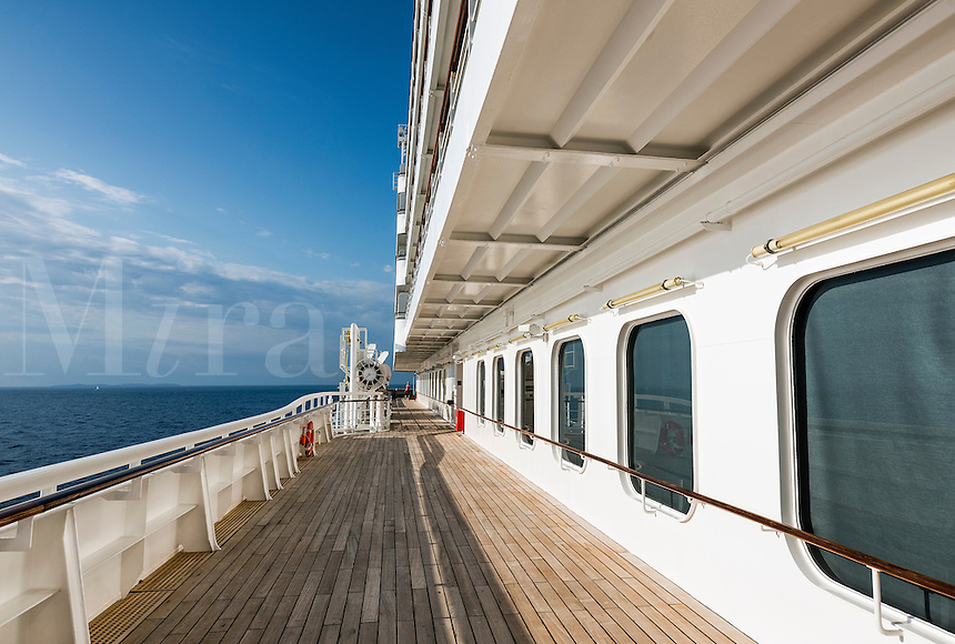 Exercise on a cruise ship jogging track.