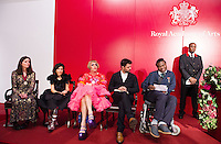 11 October 2016 - London, England - Chantal Joffe, Farshid Moussavi, Grayson Perry, Conrad Shawcross and Yinka Shonibare during a reception and awards ceremony at Royal Academy of Arts  London. Photo Credit: Alpha Press/AdMedia