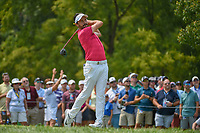 Mike Lorenzo-Vera (FRA) watches his tee shot on 12 during 4th round of the 100th PGA Championship at Bellerive Country Club, St. Louis, Missouri. 8/12/2018.<br /> Picture: Golffile   Ken Murray<br /> <br /> All photo usage must carry mandatory copyright credit (© Golffile   Ken Murray)