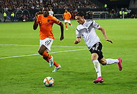 Nico Schulz (Deutschland Germany) gegen Denzel Dumfries (Niederlande) - 06.09.2019: Deutschland vs. Niederlande, Volksparkstadion Hamburg, EM-Qualifikation DISCLAIMER: DFB regulations prohibit any use of photographs as image sequences and/or quasi-video.