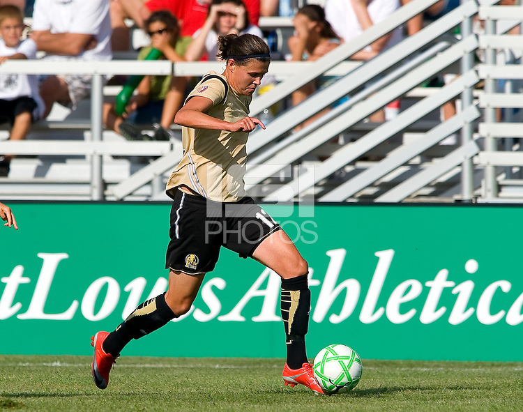 FC Gold Pride forward Christine Sinclair (12) during a WPS match at Anheuser-Busch Soccer Park, in St. Louis, MO, July 26, 2009.  The match ended in a 1-1 tie.