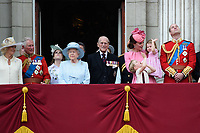 Camilla, Duchess of Cornwall; Prince Charles, Prince of Wales; Princess Beatrice; HM Queen Elizabeth II &amp; Prince Philip, Duke of Edinburgh; Catherine, Duchess of Cambridge; Princess Charlotte; Prince George &amp; Prince William, Duke of Cambridge on the balcony of Buckingham Palace following the Trooping of the Colour Ceremony celebrating the Queen's official birthday. London, UK. <br /> 17 June  2017<br /> Picture: Steve Vas/Featureflash/SilverHub 0208 004 5359 sales@silverhubmedia.com