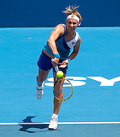 Svetlana Kuznetsova (RUS) against Jelena Dokic (AUS) in the first round of the women's singles. Svetlana Kuznetsova beat Jelena Dokic 6-2 6-2..International Tennis - Medibank International Tournament - Olympic Park - Sydney - Day 1 - Sun 9th January 2011..© Frey - AMN Images, Level 1, Barry House, 20-22 Worple Road, London, SW19 4DH.Tel - +44 208 947 0100.Email - Mfrey@advantagemedianet.com.Web - www.amnimages.photshelter.com