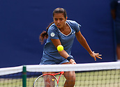 June 14th 2017, The Northern Lawn tennis Club, Manchester, England; ITF Womens tennis tournament; Ankita Raina (IND) in action during her first round singles match against  Naomi Broady (GBR); Broadie won in straight sets