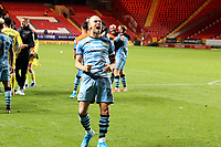 Captain Joseph Mills of Forest Green Rovers celebrates winning the penalty shoot-out which sends Forest Green Rovers into the second round during Charlton Athletic vs Forest Green Rovers, Caraboa Cup Football at The Valley on 13th August 2019