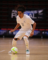 Dylan Manickum in action during the international men's futsal match between the NZ Futsal Whites and New Caledonia at Baypark Arena in Mount Maunganui, New Zealand on Thursday, 14 September 2017. Photo: Dave Lintott / lintottphoto.co.nz