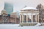 Fresh snow in Boston Common, Boston, MA