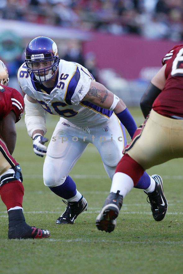 BRIAN ROBISON, of the  Minnesota Vikings  in action during the Vikings game against the San Francisco 49ers on December 9, 2007 in San Francisco, California...VIKINGS win 27-7..SportPics
