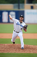 Biloxi Shuckers relief pitcher Cody Ponce (41) during a Southern League game against the Montgomery Biscuits on May 8, 2019 at MGM Park in Biloxi, Mississippi.  Biloxi defeated Montgomery 4-2.  (Mike Janes/Four Seam Images)