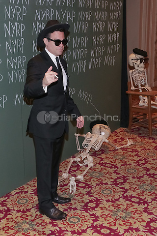 """NEW YORK, NY - OCTOBER 31 : Comedian/Writer and Actor Mario Cantone arrives for the New York Restoration Project's 19th Annual Hulaween Gala """"FELLINI HULAWEENI"""" held at the Waldorf Astoria on October 31, 2014 in New York City.  (Photo by Brent N. Clarke / MediaPunch)"""