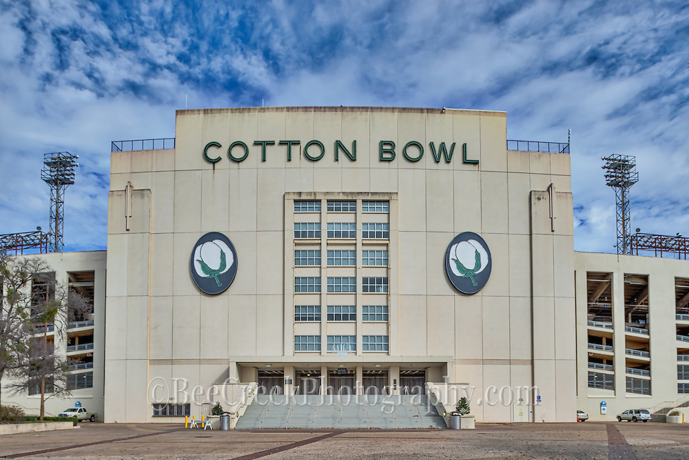 Texas Cotton Bowl in Dallas Texas located at the Texas State Fair grounds. Even though most of the games have moved to the AT&T staudium in Arlington there have been new renovations made now and games are still being played here along with concerts.