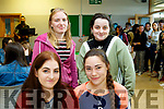 Collage again<br /> -------------------<br /> Killarney students at their Induction day concert in the Kerry Collage of Further Education, Clash, Tralee last Monday are seated, L-R Ashling O' Sullivan, Elaina Norris, back L-R Martha Green&amp;Alyssa O;Sullivan.