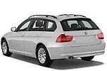 Rear three quarter view of a 2009 bmw 3 series wagon 328