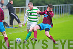 Listowel Celtic's Kevin Dillon and Spa Road FC's Brendan Sweeney.