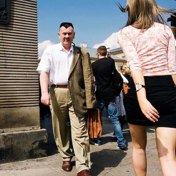 Warsaw 06.2011 Poland<br /> Poles in Warsaw<br /> <br /> Photo: Adam Lach / Napo Images<br /> <br /> Polacy w Warszawie.<br /> Photo: Adam Lach / Napo Images