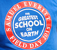 A tee shirt commemorating the school as family and community members of Samuel Everitt Elementary School held an outdoor celebration Saturday May 30, 2015 in Middletown, Pennsylvania. (Photo by William Thomas Cain/Cain Images)