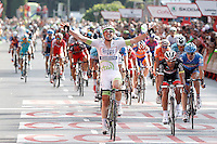 John Degenkolb comes winner to the finish line in the stage of La Vuelta 2012 beetwen Cercedilla and Madrid.September 9,2012. (ALTERPHOTOS/Acero)