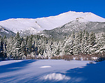 Mount Meeker, snow, winter, Rocky Mountain National Park, Colorado