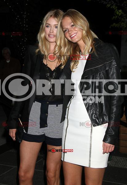 April 19, 2012 Doutzen Kroes and Erin Heatherton asiste a la proyección de Warner Bros. Pictures con la cinta  ¨The Lucky One¨ en el Hotel Crosby Street en Nueva York.(*Foto:©RW/Mediapunch/NortePhoto.com*)