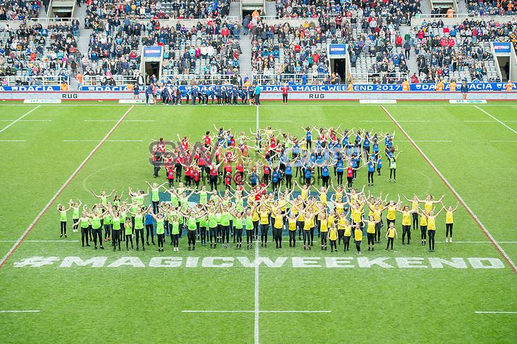 Picture by Allan McKenzie/SWpix.com - 20/05/2017 - Rugby League - Dacia Magic Weekend - St James' Park, Newcastle, England - The brief, Momentum Dance.