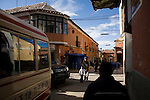 A busy corner in the city of Potosí, Bolivia.