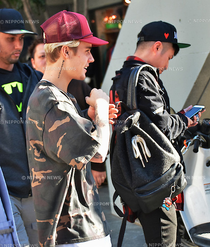 Justin Bieber, December 4, 2015, Tokyo, Japan : Singer Justin Bieber is seen upon visits at Harajuku in Tokyo, Japan, on December 4, 2015.