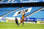 Sandhausens Robin Scheu und Hamburgs Torwart Julian Pollersbeck beim Spiel Hamburger SV gegen den  SV Sandhausen in Hamburg / 280620<br /><br />*** Football - nph00001,  2. Bundesliga: Hamburg SV vs SV Sandhausen, Hamburg, Germany - 28 Jun 2020 ***<br /><br />Only for editorial use. (DFL/DFB REGULATIONS PROHIBIT ANY USE OF PHOTOGRAPHS as IMAGE SEQUENCES and/or QUASI-VIDEO)<br />FOTO: Ibrahim Ot/action press/POOL/nordphoto *** Local Caption *** [4::31065100]