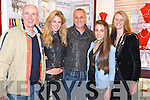 FILMSTAR: Heather and Ciara from John Ross Jewelers Tralee who met zup with Denis Murphy (film star) in the shop on Friday evening 20th Dec 2013 as Denis was home for the Christmas. L-r: Tim Murphy, Caitlin Marley, Denis Murphy,Ciara and Heather from Ross.