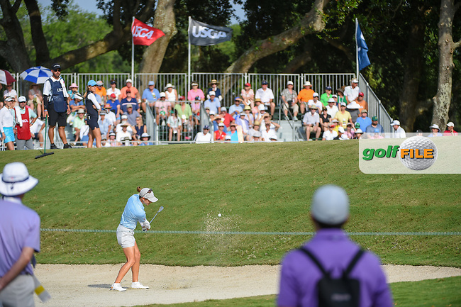 Azahara Munoz (ESP) hits from the trap on 11 during round 2 of the 2019 US Women's Open, Charleston Country Club, Charleston, South Carolina,  USA. 5/31/2019.<br /> Picture: Golffile | Ken Murray<br /> <br /> All photo usage must carry mandatory copyright credit (© Golffile | Ken Murray)