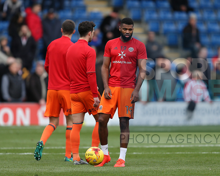 Ethan Ebanks-Landell of Sheffield Utd during the English League One match at the Proact Stadium, Chesterfield. Picture date: November 13th, 2016. Pic Simon Bellis/Sportimage