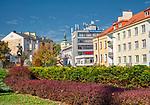 Rzeszów (woj. podkarpackie) 2018-10-11. Centrum miasta ul Jana Matejki.