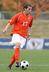 12 November 2008: Clemson's Connor Barbaree. Boston College defeated Clemson University 1-0 in the second sudden-victory overtime period at Koka Booth Stadium at WakeMed Soccer Park in Cary, NC in a men's ACC tournament quarterfinal game.