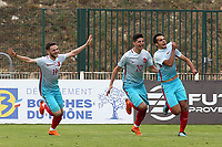 Baris Alici celebrates scoring Turkey's opening goal during Portugal Under-19 vs Turkey Under-21, Tournoi Maurice Revello Football at Stade Parsemain on 3rd June 2018