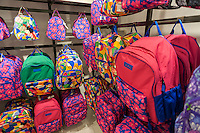 A back to school display of Vera Bradley backpacks in Macy's  in New York on Tuesday, August 9, 2016. Back-to-school is the second biggest shopping season. (© Richard B. Levine)