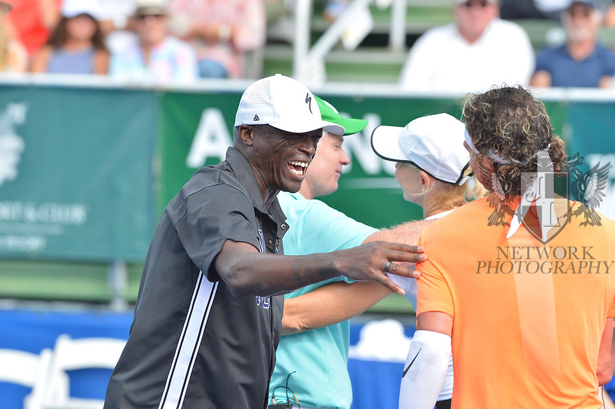 DELRAY BEACH, FL - NOVEMBER 24: Patrick McEnroe, Seal, Gavin Rossdale and Rennae Stubbs attend the 30TH Annual Chris Evert Pro-Celebrity Tennis Classic Day3 at the Delray Beach Tennis Center on November 24, 2019 in Delray Beach, Florida.  ( Photo by Johnny Louis / jlnphotography.com )