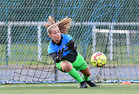 goalkeeper Josephine Delvaux of Racing Genk pictured during warming up of a female soccer game between Club Brugge Dames YLA and Racing Genk Ladies on the second matchday of the 2020 - 2021 season of Belgian Scooore Women s SuperLeague , saturday 5 th of September 2020  in Brugge , Belgium . PHOTO SPORTPIX.BE   SPP   DAVID CATRY
