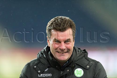 01.03.2016. Hannover, Germany. Bundesliga Football Hannover 96 versus VfL Wolfsburg.   Dieter Hecking (Trainer VfL Wolfsburg)