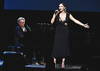LOS ANGELES - SEPTEMBER 19:  David Foster and Katharine McPhee at the 2017 Grammy Museum Gala Honoring David Foster at The Novo on September 19, 2017 in Westwood, California. (Photo by Scott Kirkland/PictureGroup)