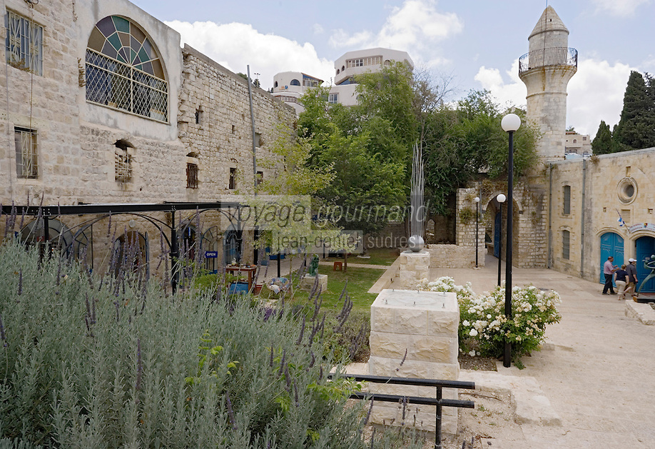 Asie/Israël/Galilée/Safed: Place William et Anne Kapell ou se trouvent de nombreux ateliers d'artistes