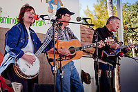Karen Batten, Bob Shea and Doug Gerdan of Bugtussel Ramblers performes at the Third Annual Jammin in the Hammock Bluegrass Festival in Collier Seminole State Park on February 13. Photo Debi Pittman Wilkey