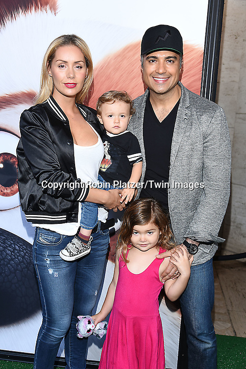 Jaime Camil and family attend the New York Premiere of &quot;The Secret Life of Pets&quot; on June 25, 2016 at David H Koch Theater at Lincoln Center in New York, New York, USA. <br /> <br /> photo by Robin Platzer/Twin Images<br />  <br /> phone number 212-935-0770