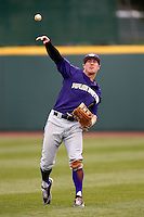 Jayce Ray #1 of the Washington Huskies during a baseball game against the UCLA Bruins at Jackie Robinson Stadium on March 17, 2013 in Los Angeles, California. (Larry Goren/Four Seam Images)