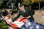 ".""A Day in the Life of BYU""..9/22/04..BYU Cadets and Local Scout Troop 724 Retire the ASB Flag at 5:30 P.M...Cadets- L->R.Chris Rottermel  371-4488.Kevin Ryan Jenkins 885-1687.Rachel Paulsen 371-3398..Contact Major Greg Weisler with any Questions.422-7725..Scouts- L->R.Taylor Ellingson 373-0846.Trenton Taylor 369-2197.Jeremy Rich 830-6788..Contact Troop Leader with Questions.Alan Argyle 361 6877..Photo by Jaren Wilkey/BYU..Copyright BYU PHOTO 2004.photo@byu.edu  801-422-7322.0409-39 ROTC Flag Retireing."
