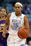 30 December 2014: North Carolina's Allisha Gray. The University of North Carolina Tar Heels hosted the University at Albany Great Danes at Carmichael Arena in Chapel Hill, North Carolina in a 2014-15 NCAA Division I Women's Basketball game. UNC won the game 71-56.