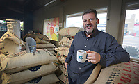 March 20, 2019. San Diego, CA. USA|  Owner of Bird Rock Coffee Roasters Jeff Taylor at his business off of Morena Blvd in San Diego. | Photos by Jamie Scott Lytle. Copyright.