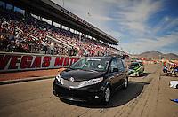 Mar. 30, 2012; Las Vegas, NV, USA: NHRA funny car driver Alexis DeJoria during qualifying for the Summitracing.com Nationals at The Strip in Las Vegas. Mandatory Credit: Mark J. Rebilas-