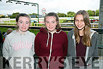 Anna Marie O'Donnell, Sinead O'Donnell and Sarah Frost enjoying a night at the Dogs at the Kingdom Greyhound Stadium on Friday