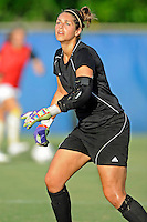 21 August 2011:  FIU's Melanie Raimo (1) runs through drills prior to the match.  The University of Florida Gators defeated the FIU Golden Panthers, 2-0, at University Park Stadium in Miami, Florida.